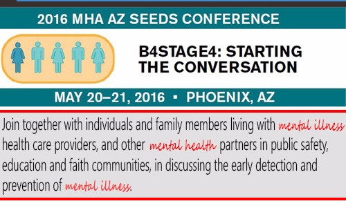 Learn more about the SEED Conference. Attendees will learn how to recognize the early signs and symptoms of a mental health condition; develop strategies to advocate for your loved ones and for self-management; navigate community resources including crisis services; get information on innovative programs and services; and how to engage and mobilize with other community. Click here to learn more.