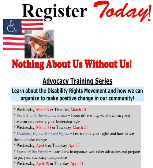 Learn about the Disability Rights Movement and how we can organize to make positive change in our community. All trainings are 4 to 5:30 p.m. at DIRECT Center for Independence in Tucson. A light meal will be provided. Certificate and prizes will be awarded to participants who complete all 4 trainings! Click here to learn more.