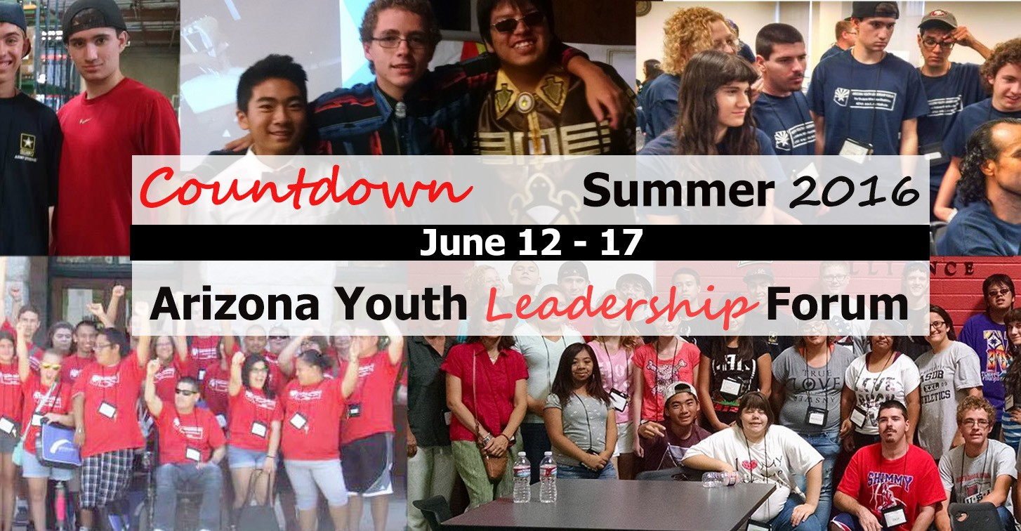 Countdown to AZYLF! Click here to learn more about the 2016 Arizona Youth Leadership Forum.