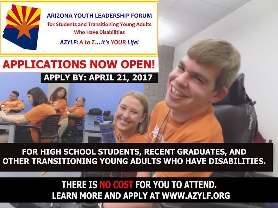 Applications now open for AZYLF 2017! Apply by April 21, 2017.